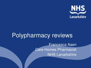 Polypharmacy reviews