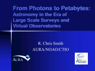 From Photons to Petabytes: Astronomy in the Era of  Large Scale Surveys and  Virtual Observatories