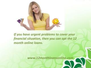 12 Month Loans No Credit Check-Get Cash aid Help For bad cre