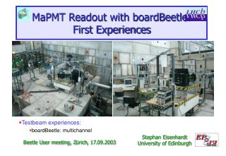 MaPMT Readout with boardBeetle: First Experiences