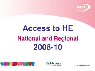 Access to HE National and Regional 2008-10