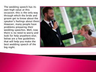 Some must add things in your wedding speech