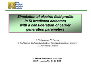Simulation of electric field profile  in Si irradiated detectors  with a consideration of carrier