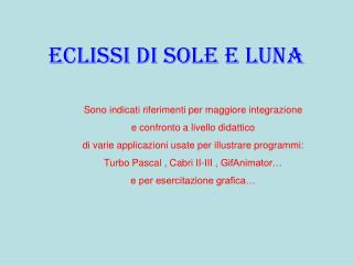 Eclissi di sole e luna