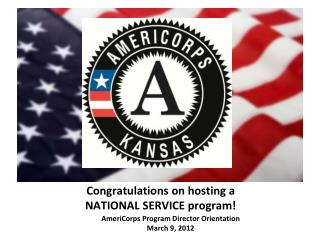 Congratulations on hosting a  NATIONAL SERVICE program!