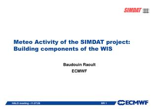 Meteo Activity of the SIMDAT project: Building components of the WIS