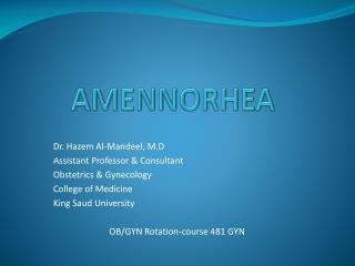 AMENNORHEA