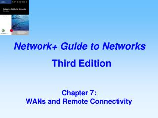Chapter 7:   WANs and Remote Connectivity