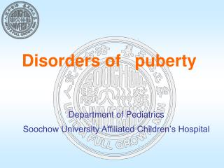 Disorders of   puberty