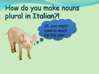 How do you make nouns plural in Italian?!