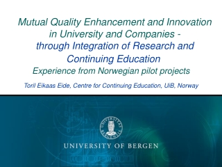 Educational Approach and Quality: Does PBL support quality