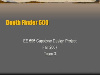 Depth Finder 600