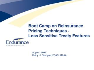 Boot Camp on Reinsurance Pricing Techniques - Loss Sensitive Treaty Features