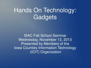 Hands On Technology: Gadgets