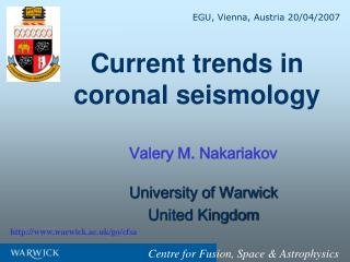 Current trends in coronal seismology