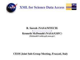 XML for Science Data Access
