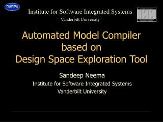 Automated Model Compiler based on Design Space Exploration Tool
