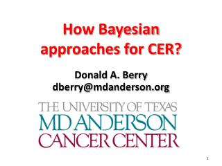 Why Bayesian  approaches for CER