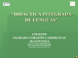 """DIDÁCTICA INTEGRADA DE LENGUAS"""