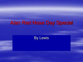 Alan Red Nose Day Special