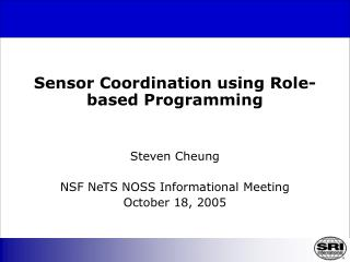 Sensor Coordination using Role-based Programming