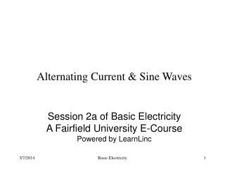 Alternating Current & Sine Waves