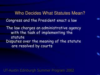 Who Decides What Statutes Mean?