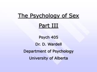 Part lll Personal Relationships and Development & Clinical Observations