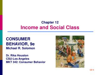 Chapter 12 Income and Social Class