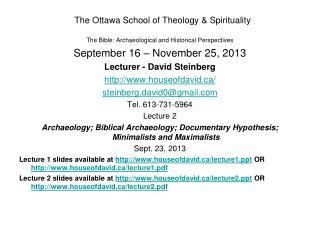 The Ottawa School of Theology & Spirituality