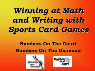 Winning at Math and Writing with Sports Card Games