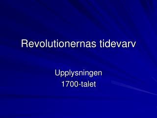 Revolutionernas tidevarv