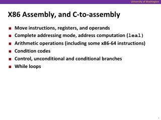X86 Assembly, and C-to-assembly