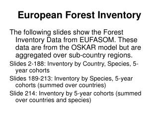 European Forest Inventory