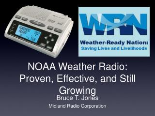 NOAA Weather Radio: Proven, Effective, and Still Growing