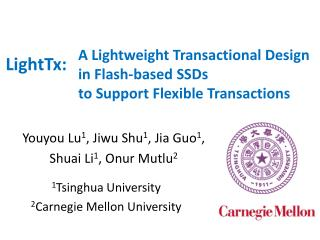 A Lightweight Transactional Design in Flash-based SSDs  to Support Flexible Transactions