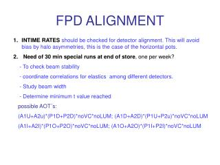 FPD ALIGNMENT