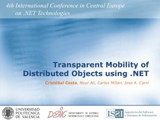 Transparent Mobility of Distributed Objects using .NET
