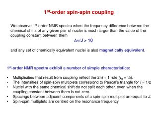 1st-order spin-spin coupling