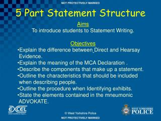 5 Part Statement Structure
