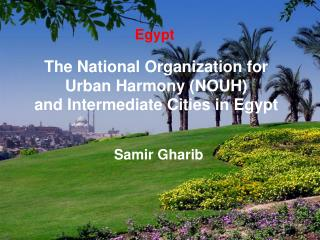 The National Organization for Urban Harmony (NOUH)  and Intermediate Cities in Egypt