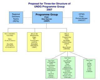Proposal for Three-tier Structure of  UNDG Programme Group  2007