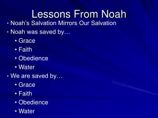 Lessons From Noah