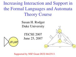 Increasing Interaction and Support in the Formal Languages and Automata Theory Course