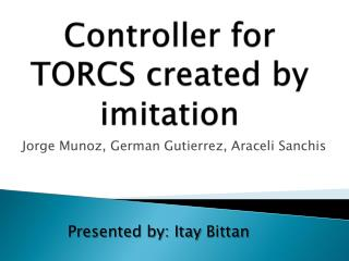 Controller for TORCS created by imitation