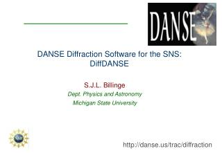 DANSE Diffraction Software for the SNS: DiffDANSE