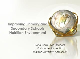 Improving Primary and Secondary Schools Nutrition Environment