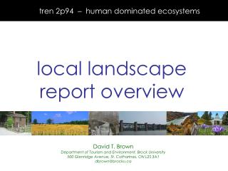 tren 2p94  –  human dominated ecosystems