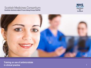 Training on use of antimicrobials in clinical practice