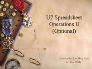 U7 Spreadsheet Operations II (Optional)